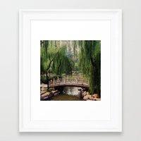 asian Framed Art Prints featuring Asian Garden by MehrFarbeimLeben
