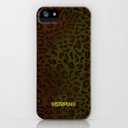 Modern Woodgrain Camouflage / Zaire KDP Print iPhone Case