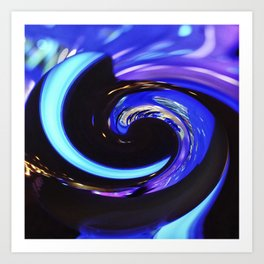 Swirling colors 01 Art Print