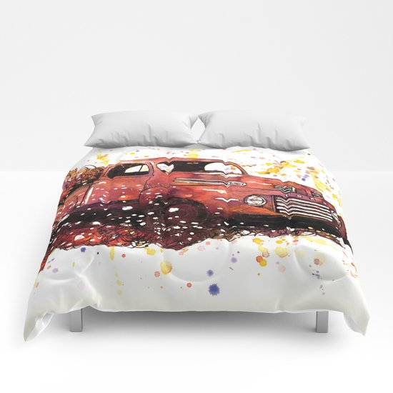 1950 ford truck Comforters