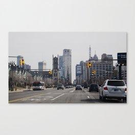Woodward Ave. Canvas Print