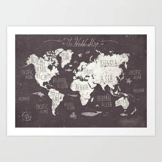 The World Map Art Print