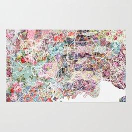 Brest map Rug