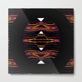 Geometric Passion on Black,White, Pink,Gold,Purple Metal Print