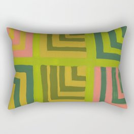 Painted Color Block Squares Rectangular Pillow