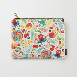 Candy Pattern - White Carry-All Pouch