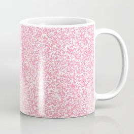 Spacey Melange - White and Flamingo Pink Coffee Mug
