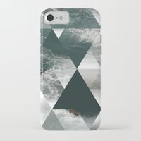 polygon iPhone & iPod Cases featuring Waves polygon by cat&wolf