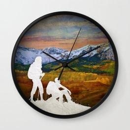 Autumn Hike Wall Clock