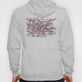 Red Fragmentation Hoody