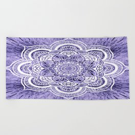 Mandala Lavender Colorburst Beach Towel