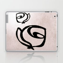 Flowers, Mother-Daughter, Pink Laptop & iPad Skin