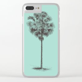 Antique Palm Tree Illustration I Clear iPhone Case