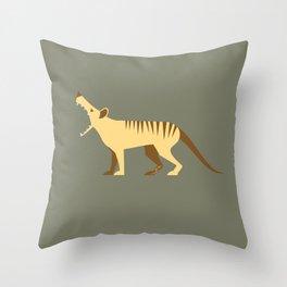 EXTINCT: Thylacine (Tasmanian Tiger) Throw Pillow