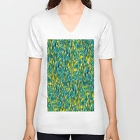 ikat V-neck T-shirts featuring Ikat Floral by Selkiesong