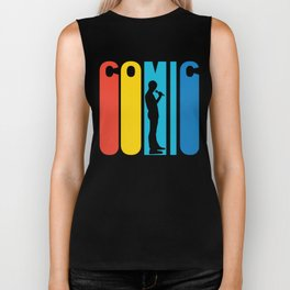 Retro 1970's Style Stand Up Comic Biker Tank