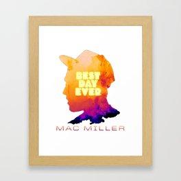 MAC MILLER---BEST DAY EVER Framed Art Print