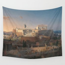 Leo von Klenze - Reconstruction of the Acropolis and Areopagus in Athens Wall Tapestry