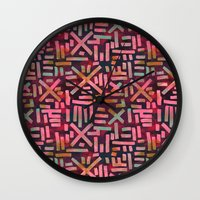 desert Wall Clocks featuring DESERT  by Schatzi Brown
