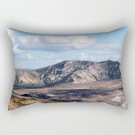 Lake and mountain view near Johnston's Ridge, probably Coldwater Lake and Clearwater Lake Rectangular Pillow