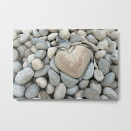 heart love stones in the quarry Metal Print