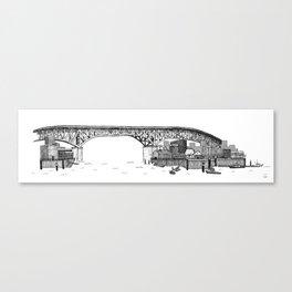 Granville Island Market Canvas Print