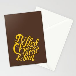 Grilled Cheese & Fun Stationery Cards