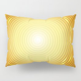 Abstract golden circle with glow light effect. Pillow Sham