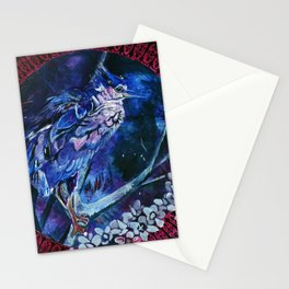 Dark-crowned Night Heron and Tamarisk Stationery Cards