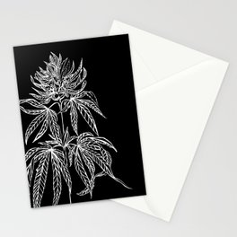 Reverse Cannabis Illustration Stationery Cards