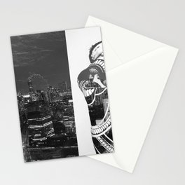 Tattoo and architecture of the city Stationery Cards