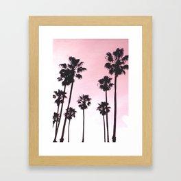 Palms & Sunset Framed Art Print