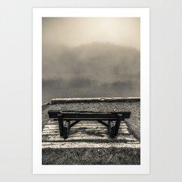 Foggy seat Art Print