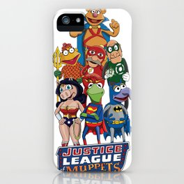 Justice League of Muppets iPhone Case
