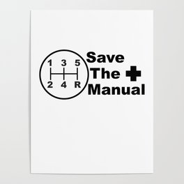 Save The Manual Decal Poster