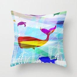balena Roja Throw Pillow