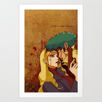 bebop Art Prints featuring Cowboy Bebop by Burcu Aycan