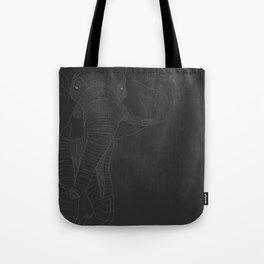 All lines lead to the...Elephant Tote Bag