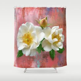 Magnolias on Pink Shower Curtain