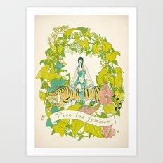 Vive Les Femmes Art Print