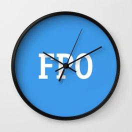 For Placement Only - FPO - Artwork (Dropbox Blue) Wall Clock