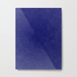 Rich Royal Blue Rippled Moiré Pattern Metal Print