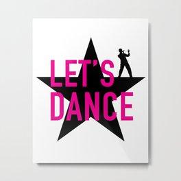David Bowie - Let's dance Metal Print