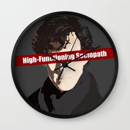 Sherlock: High-Functioning Sociopath Wall Clock