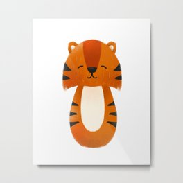 Tiger  Nursery Art Metal Print