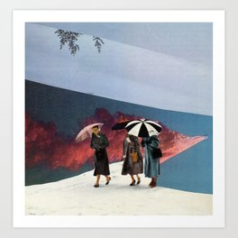 Rainy Day Dames Art Print