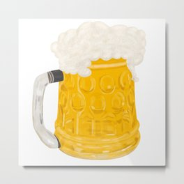 Glass of Beer Metal Print