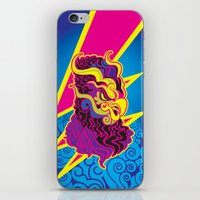storm iPhone & iPod Skins featuring Storm by HanYong