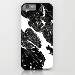 Halifax - Minimalist City Map iPhone Case