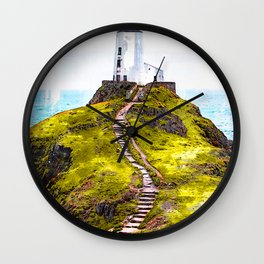 Lighthouse Ynys Llanddwyn - For Lighthouse Lovers Wall Clock